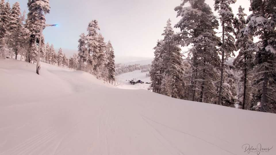 The final stretch back down to the Ski Resort, Saariselkä Lapland