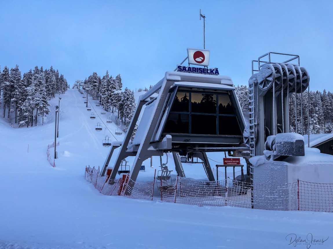 The chairlift at Saariselkä Ski and Sports Resort, Saariselkä Lapland