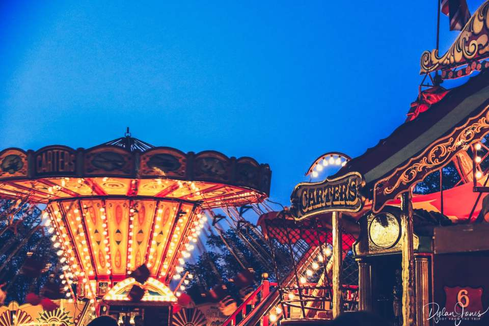 Vintage fairground rides of Carters Steam Fair