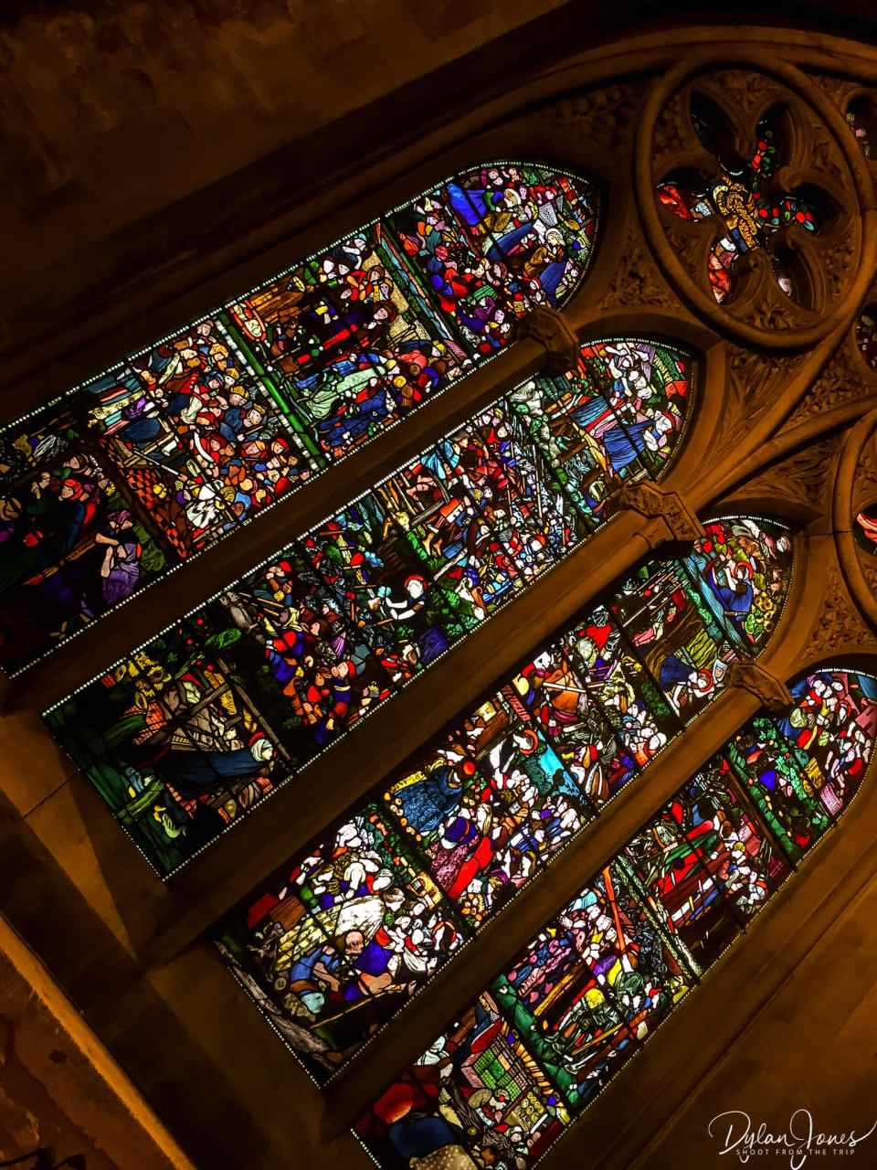 Stained glass in Christchurch Cathedral