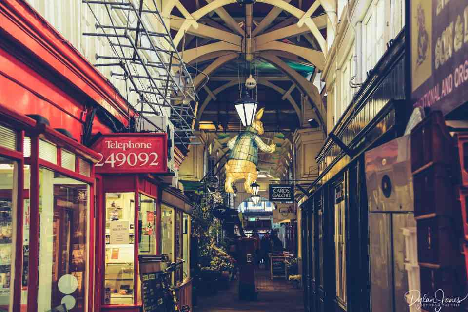 Inside the Covered Market in Oxford
