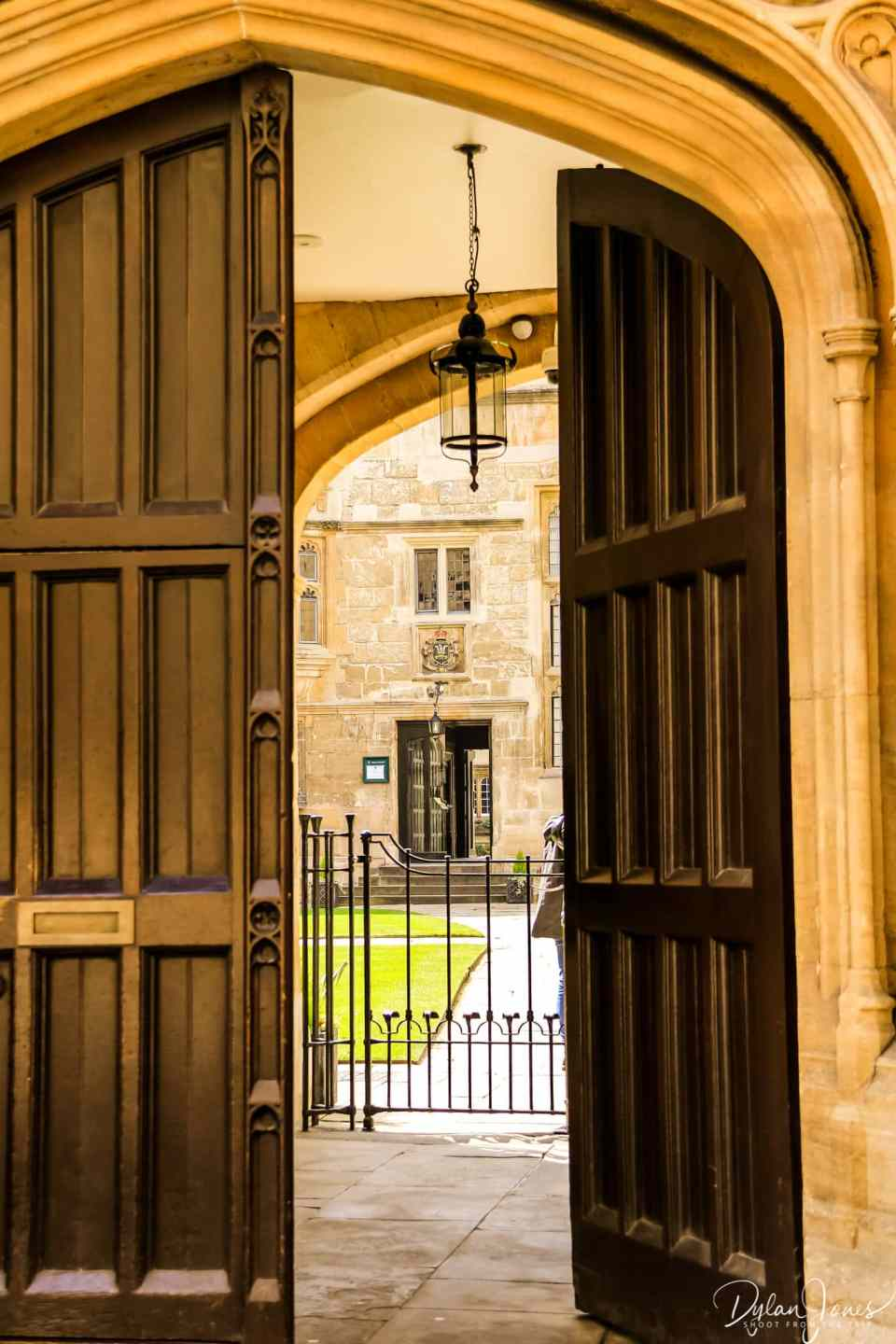 A view through an archway during a weekend in Oxford