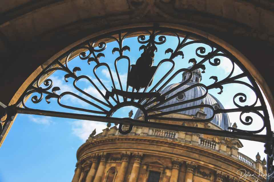 A glimpse of the Radcliffe Camera