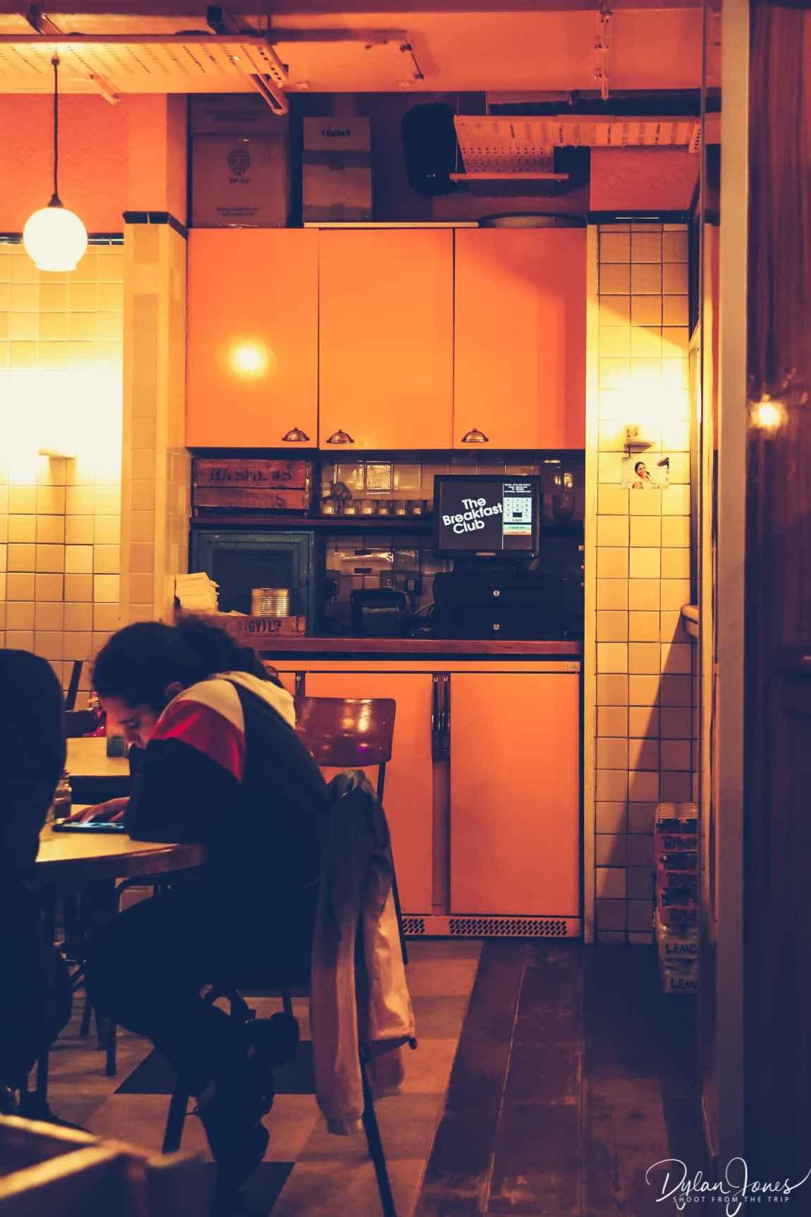 Retro decor at The Breakfast Club