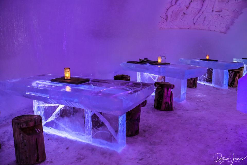 Ice Restaurant interior at the Northern Lights Village Saariselka