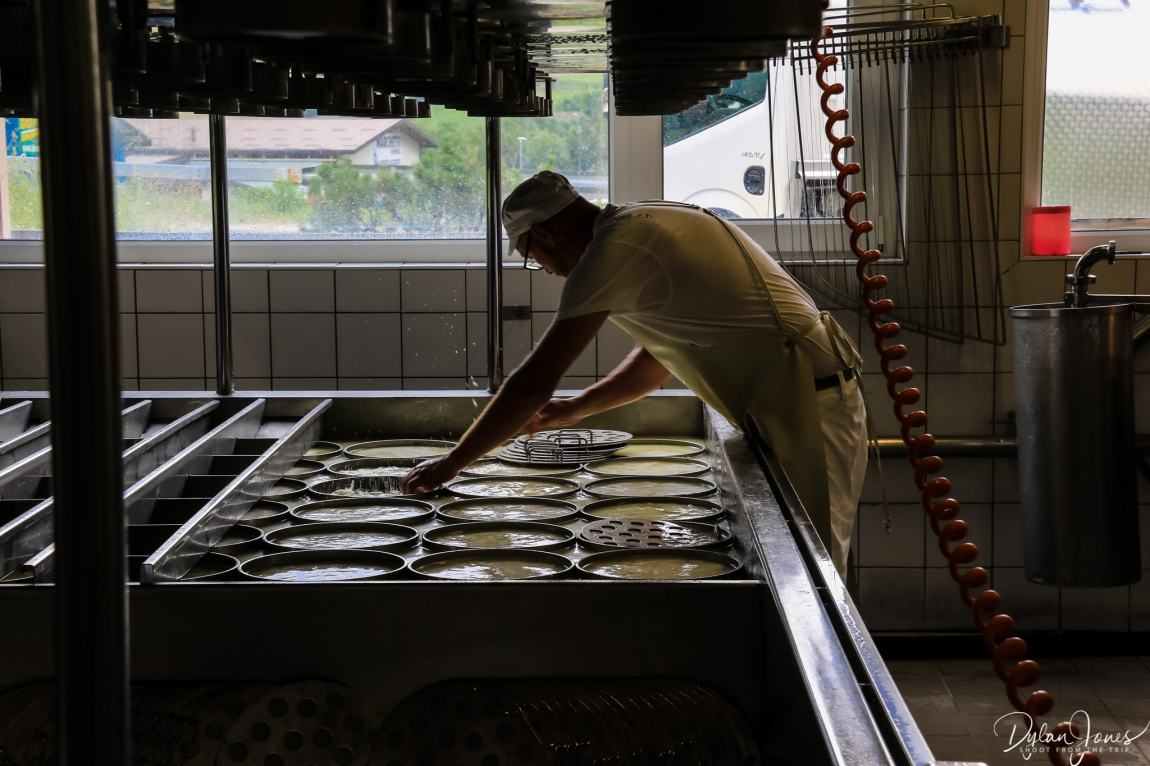 Cheese making in action at Fromagerie D'Etiez