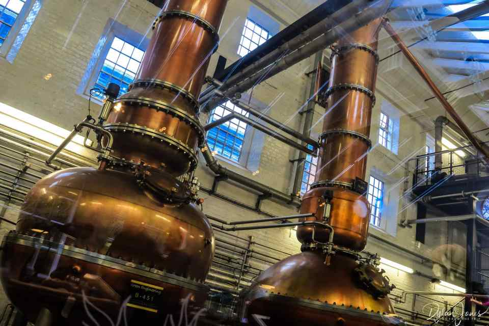The historic copper stills at the Dakin Still House
