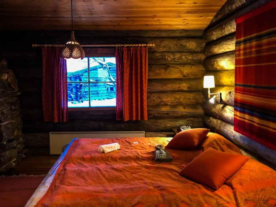 Kakslauttanen Arctic Resort cabin interior