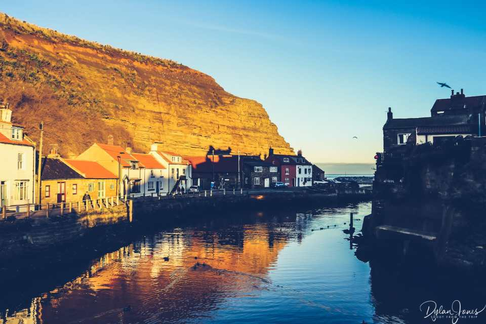 Harbour view of Staithes from the bridge across Staithes Beck