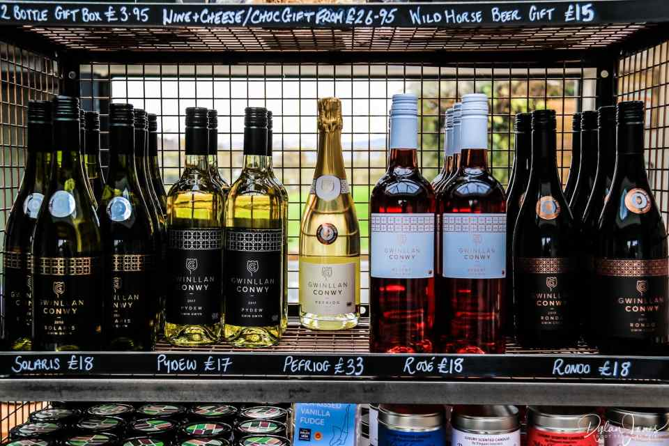 Gwinllan Conwy's range of wines