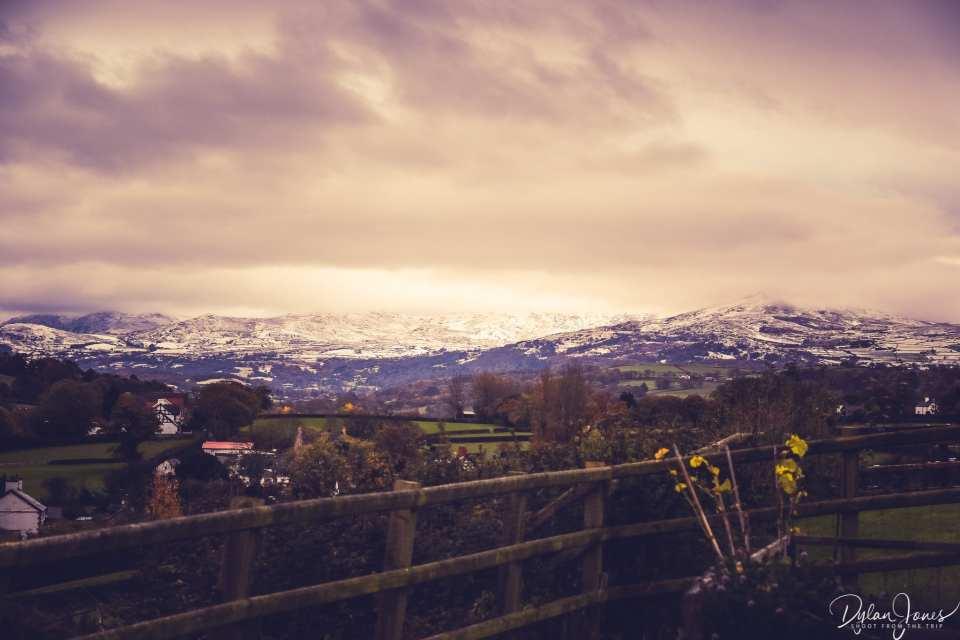 First snow of the season on the Carneddau mountains