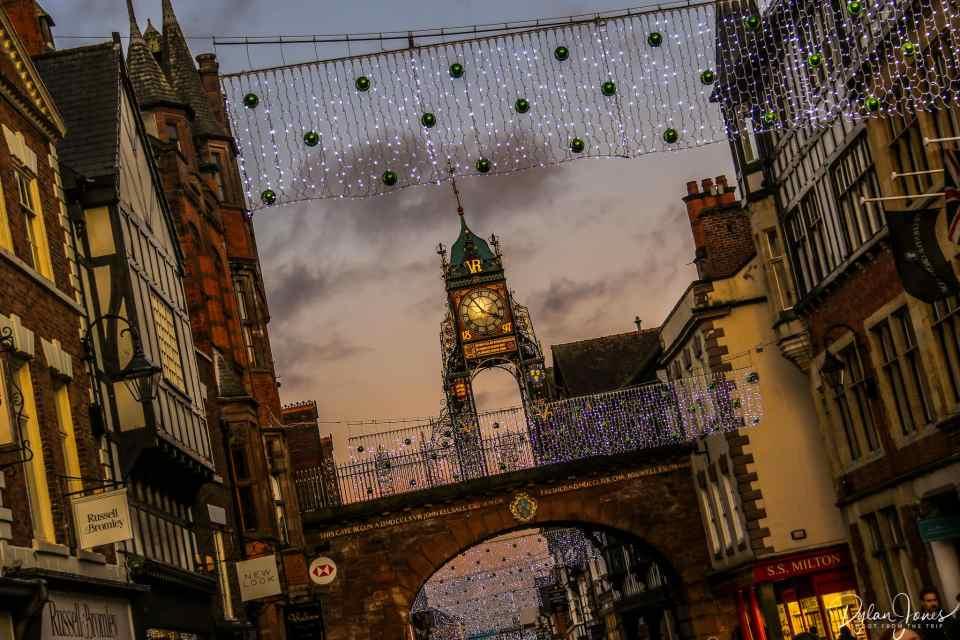 The Eastgate Clock in Chester on a Chester sightseeing trip
