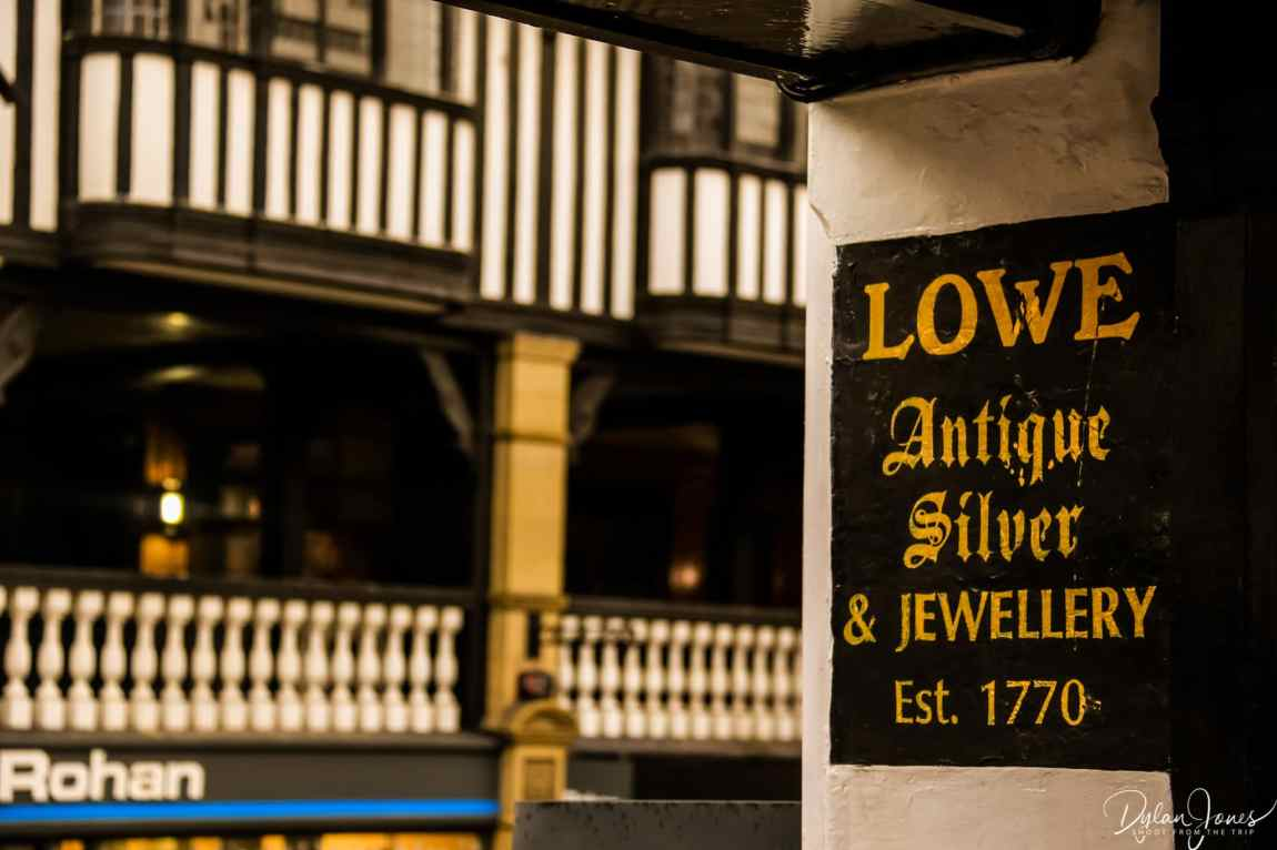 Signage at Chester's Rows