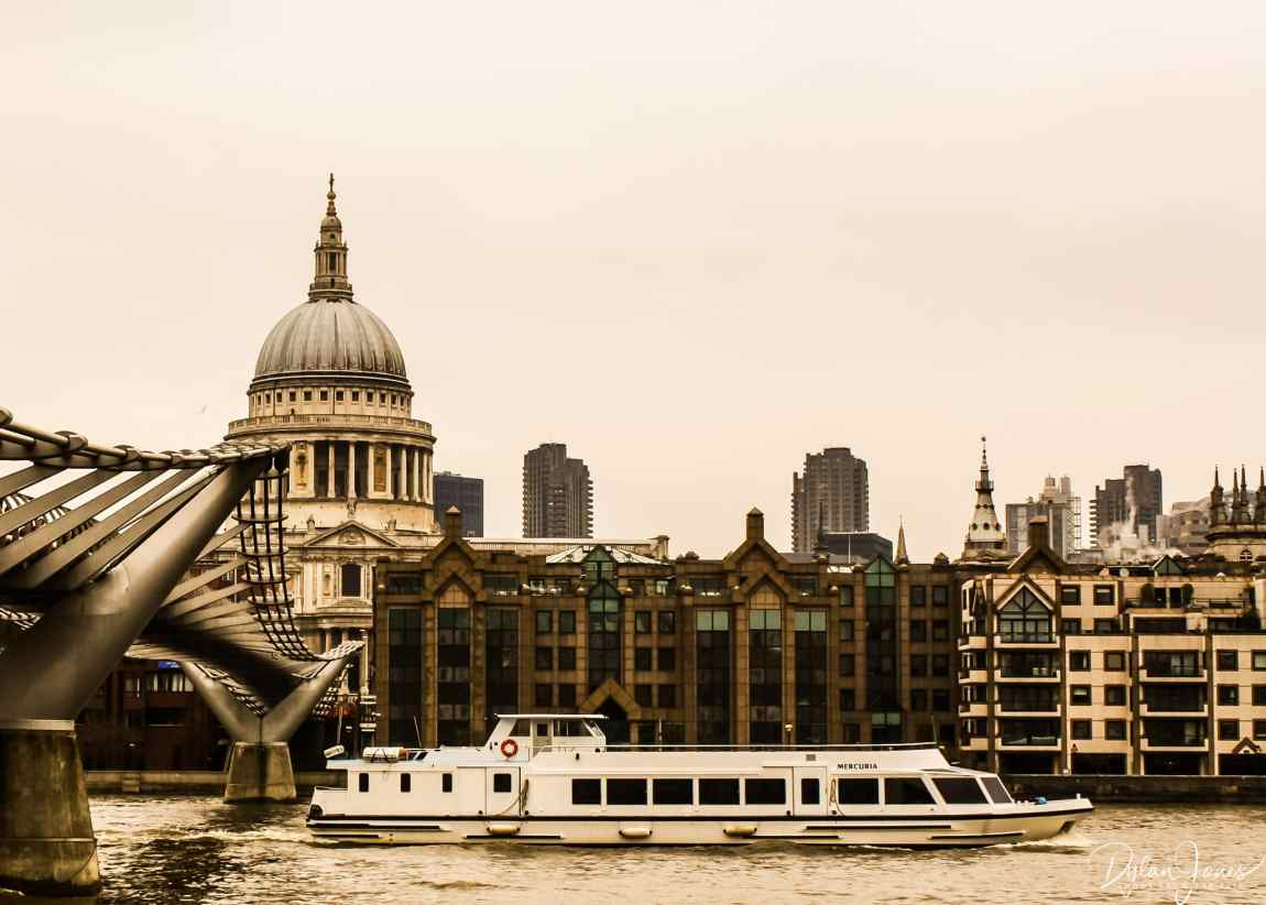 St. Paul's Cathedral and the Millennium Bridge