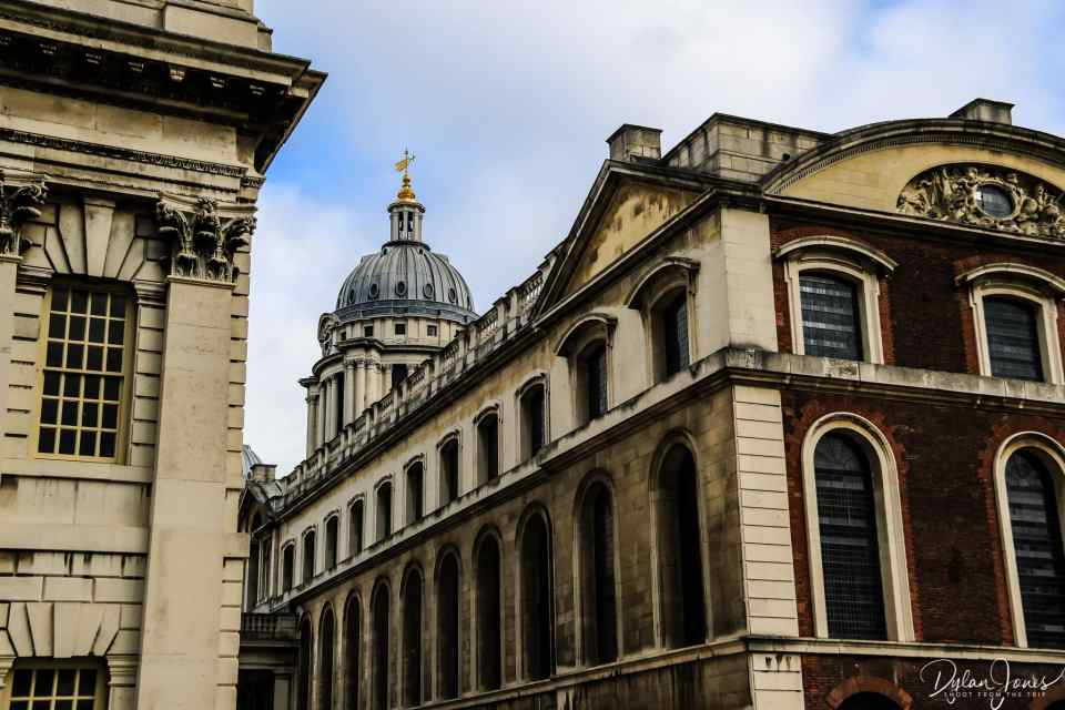 The baroque architecture of the Old Royal Navy College