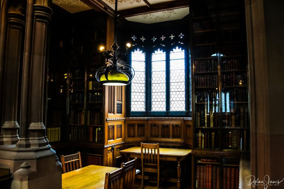 Private study alcoves at the John Ryland Library