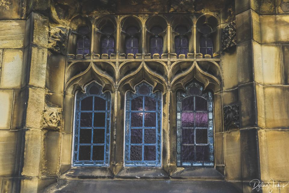 Window detail at Manchester Cathedral
