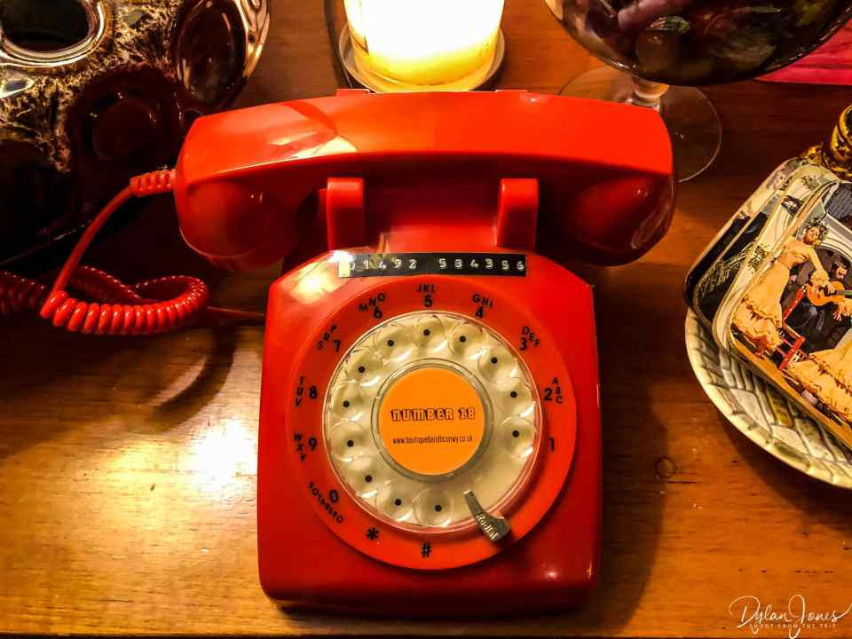 Classic telephone vibes at Number 18