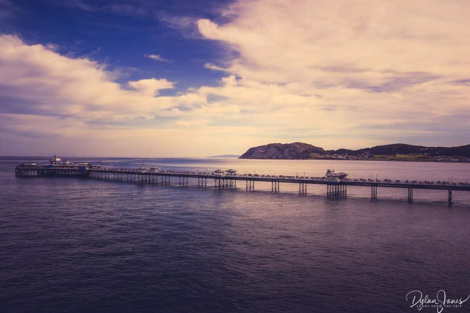 Llandudno Pier stretching out to sea