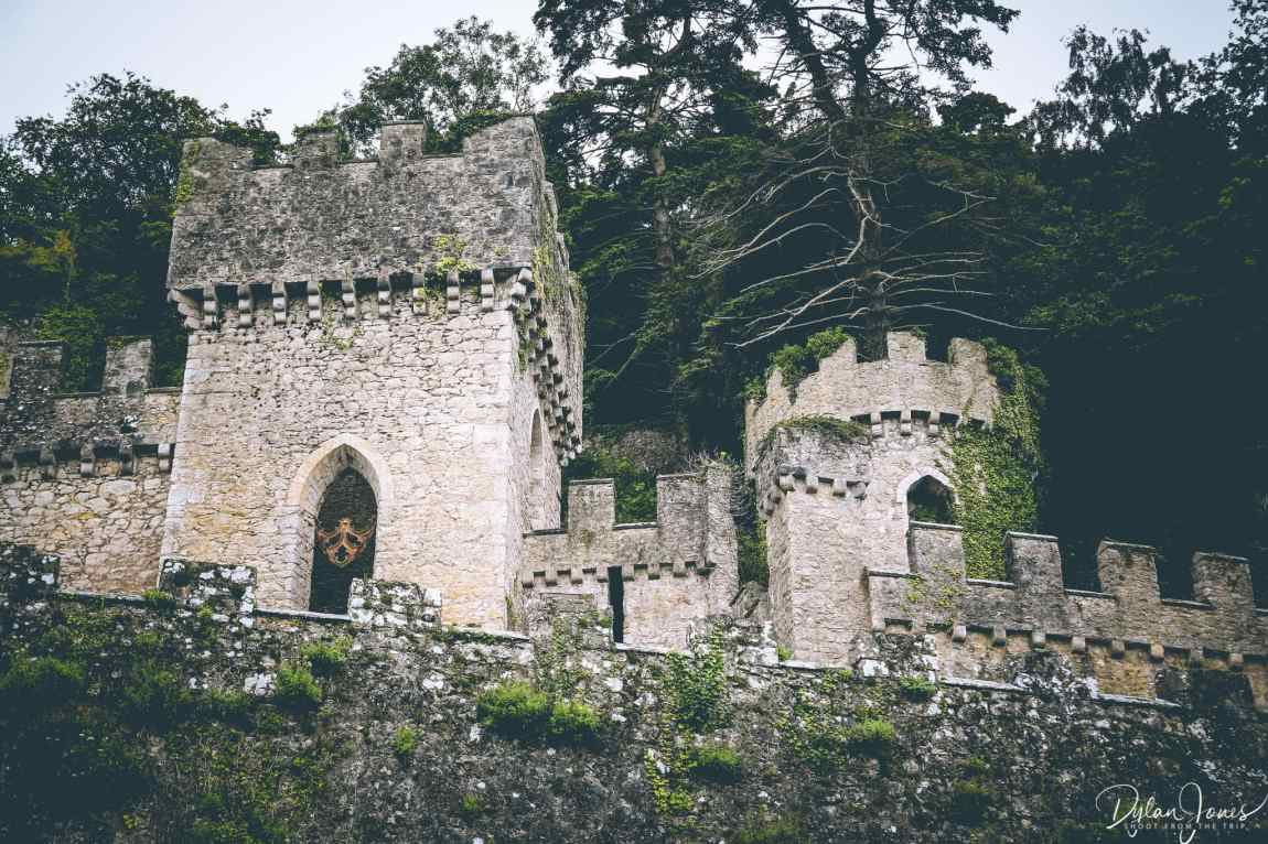 Gwrych Castle nestled into the woodland