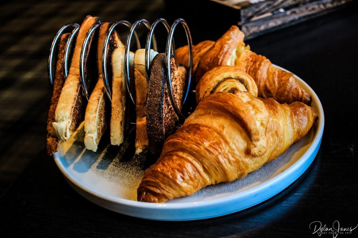 Toast and pastries