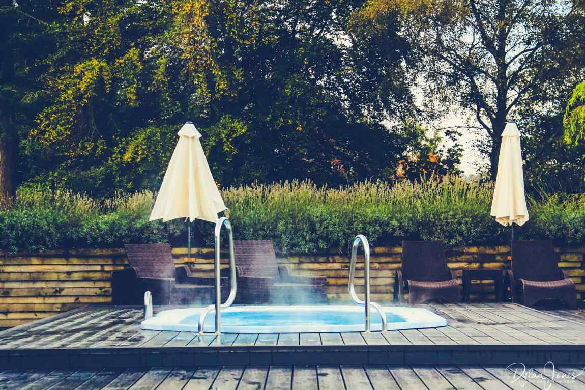 The welcoming outdoor spa pool