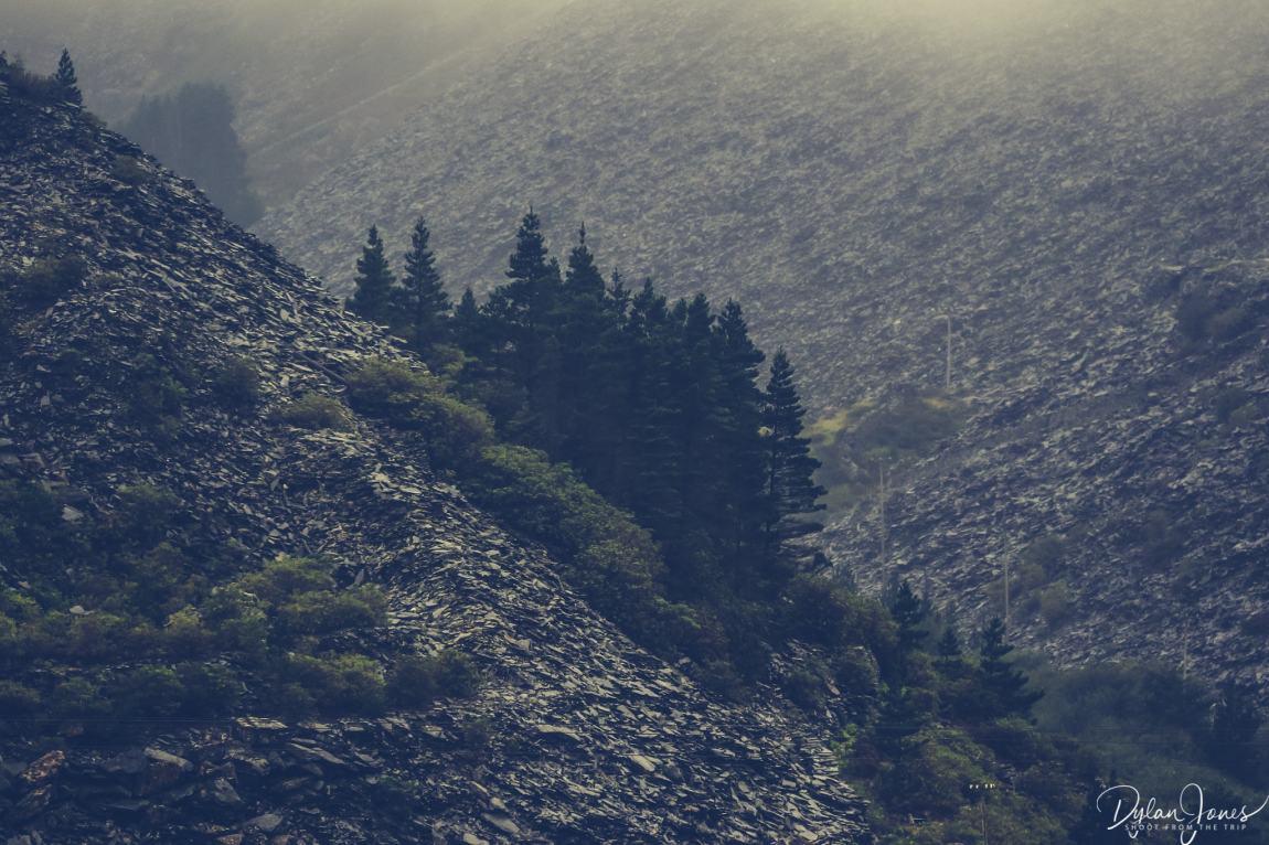The slate mountains of Llechwedd