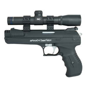 Single Stroke Pneumatic (SSP) Air Pistol & PAO 2 x 20 Scope