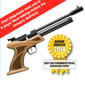 "AirForceOnetm ""Trophy"" .177 CO2 ""Target"" Pistol & .22 CO2 ""Vermin!"" Pistol"