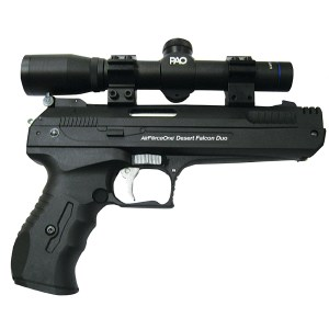 Single Stroke Pneumatic (SSP) Air Pistol & PAO Tactical Laser Combo