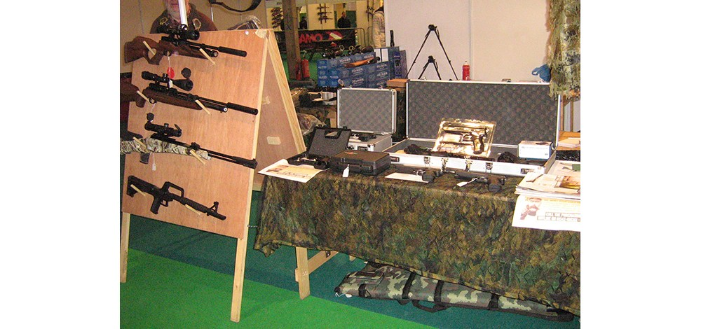 The Shooting Party stand at this Year's British Shooting Show at Stoneleigh Park
