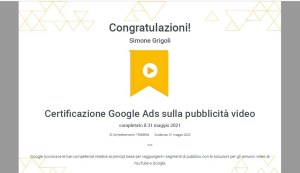 certificazione per le inserzioni video su Google ads e Youtube ads