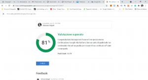 immagine con la valutazione per la certificazione sulla rete Display di Google.  Agenzia Google Ads Genova