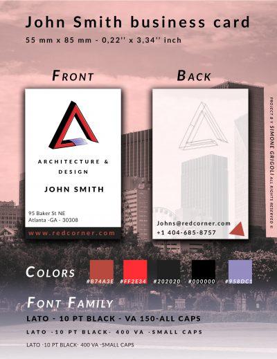 biglietto da visita - grafica per identità aziendale