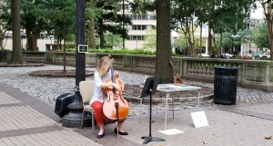 Violin Player at Rittenhouse Square