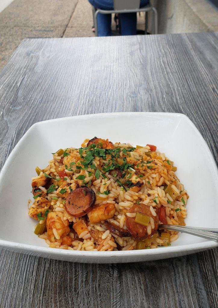 Food photography. Jambalaya at the Marathon Grill, Rittenhouse Square.