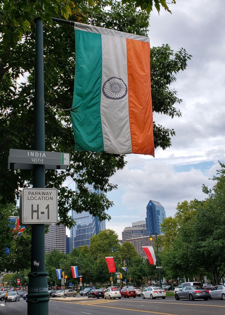 Indian Flag. Ben Franklin Parkway. Philadelphia, PA.