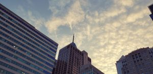 Cloudy Sunset in Center City