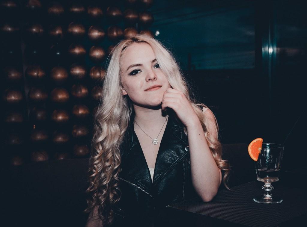 Girl in a bar.