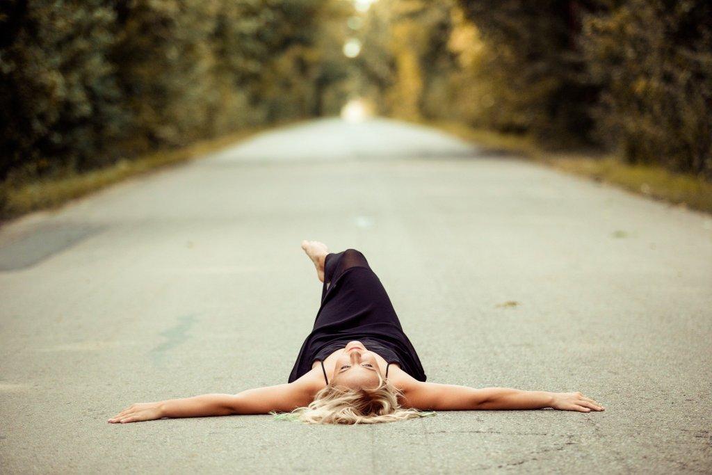 woman on ground