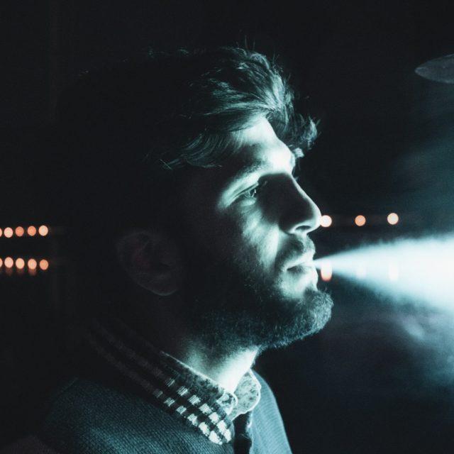 Model Blowing Air Night