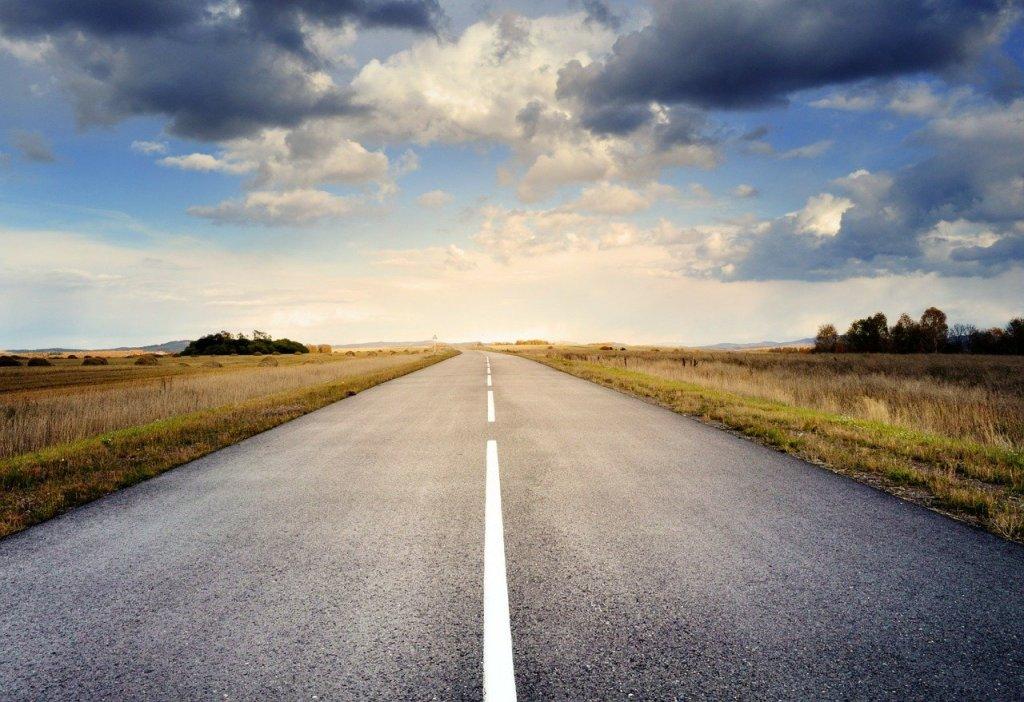 Long open road.
