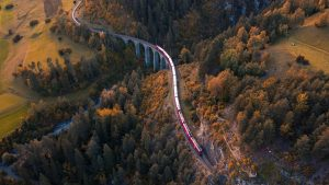 Trains In Fall