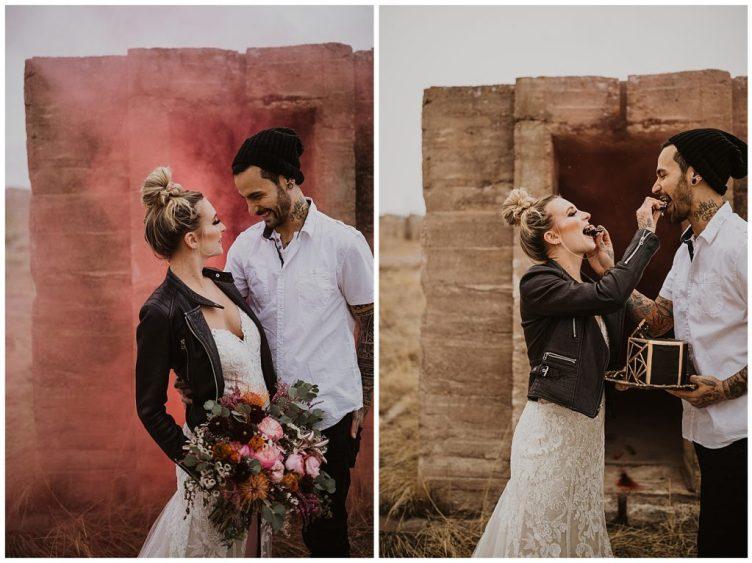 sweet wedding couple