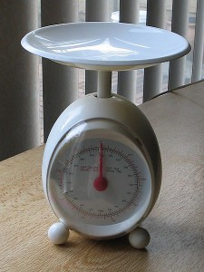 A brand new scale, yesterday