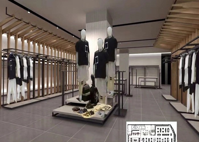 luxury clothing store display