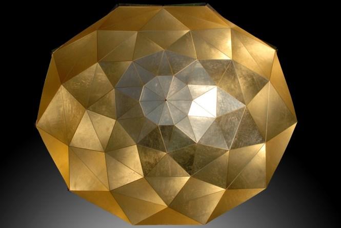 Sun Chandelier Gold Stainless Steel 140