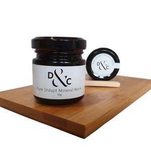 Pure Shilajit Mineral Resin Australia 50g in a jar. 100 portions per jar.