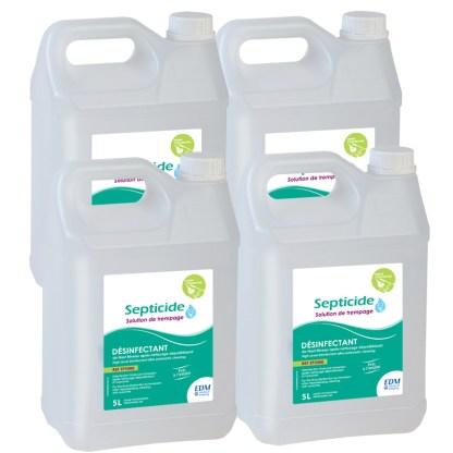 SP5000 4 désinfectants SEPTICIDE