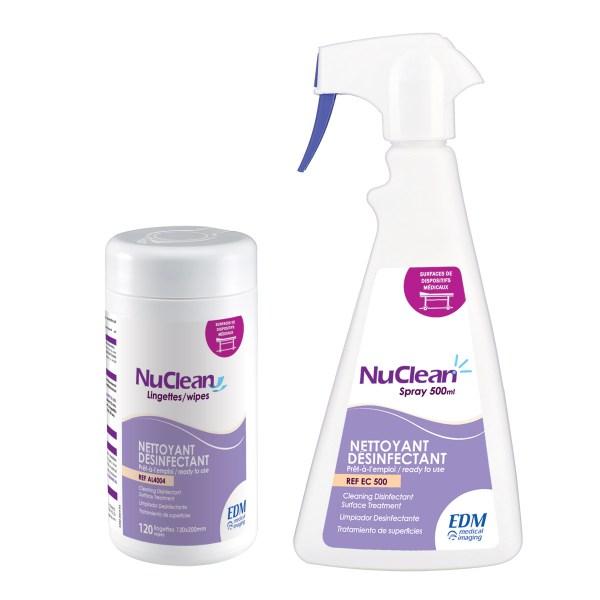 nuclean désinfection des surfaces médicales